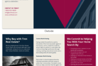 Bold Real Estate Tri Fold Brochure Template Template – Venngage With Training Brochure Template