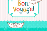 Bon Voyage Card Illustration 58702570 – Megapixl in Bon Voyage Card Template