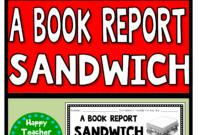 Book Report Sandwich: 7 Layer Sandwich Book Report for Sandwich Book Report Printable Template