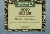 Boot Camp Certificate Template | Boot Camp Internship With Boot Camp Certificate Template