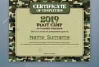 Boot Camp Internship Program Certificate Template Design With Boot Camp Certificate Template