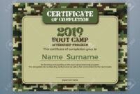 Boot Camp Internship Program Certificate Template Design With.. for Boot Camp Certificate Template