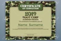 Boot Camp Internship Program Certificate Template Design With.. For Boot Camp Certificate Template