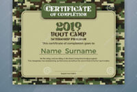 Boot Camp Internship Program Certificate Template Stock inside Boot Camp Certificate Template