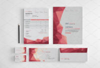 Branding Stationery Set. A Collection Of Branding/identity for Business Card Letterhead Envelope Template