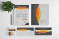 Branding Stationery Set. A Collection Of Branding/identity regarding Business Card Letterhead Envelope Template