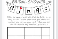 Bridal Shower Bingo Card Template pertaining to Blank Bridal Shower Bingo Template