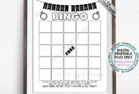 Bridal Shower Bingo Cards, Bridal Shower Bingo Printable intended for Blank Bridal Shower Bingo Template