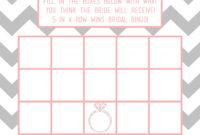 Bridal Shower Bingo Template | Madinbelgrade for Blank Bridal Shower Bingo Template