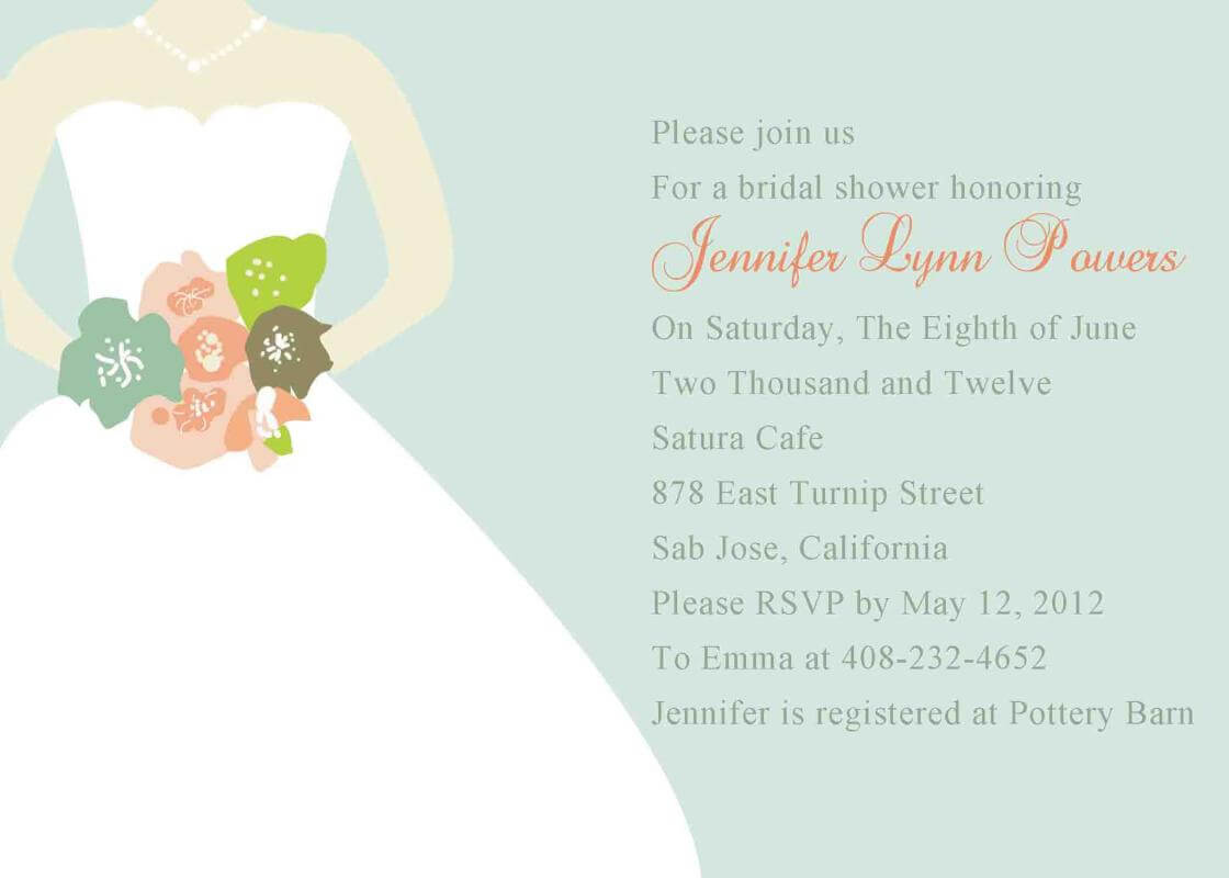 Bridal Shower Invitation Template | Template Business for Blank Bridal Shower Invitations Templates