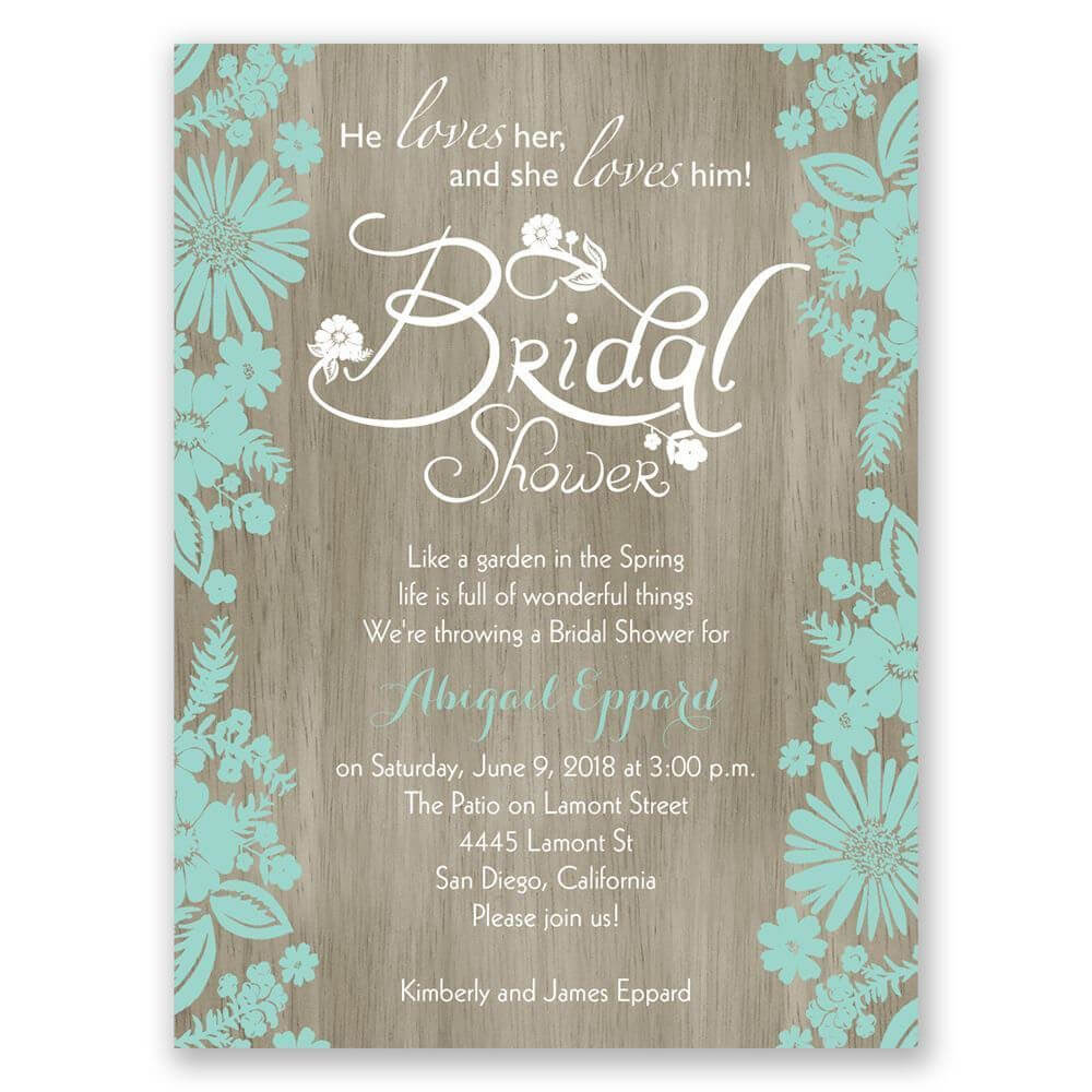 Bridal Shower Invitations Blank Templates | Wedding Shower For Blank Bridal Shower Invitations Templates