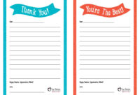 Brilliant Ideas Of Teacher Appreciation Week – Free with regard to Thank You Note Cards Template
