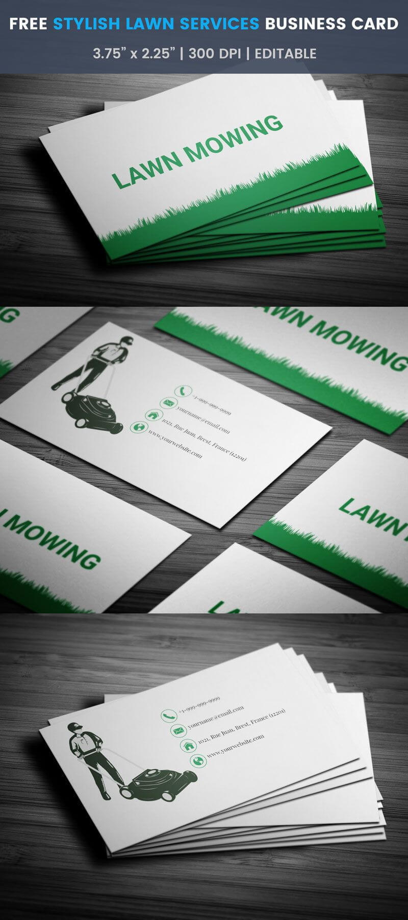 Brilliant Lawn Mowing Business Card- Full Preview | Free pertaining to Lawn Care Business Cards Templates Free