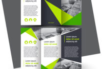Brochure Design Template Creative Tri-Fold Green inside E Brochure Design Templates