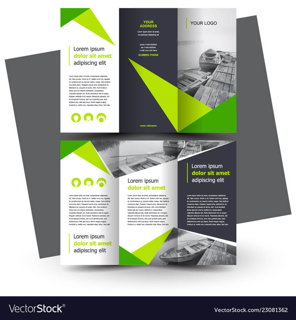 Brochure Design Template Creative Tri Fold Green Inside E Brochure Design Templates