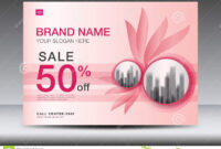 Brochure Flyer For Cosmetics, Banner Design Template Vector intended for Advertising Card Template