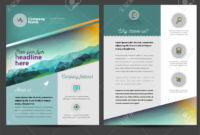 Brochure Or Flyer Design Template In Letter Size regarding Letter Size Brochure Template
