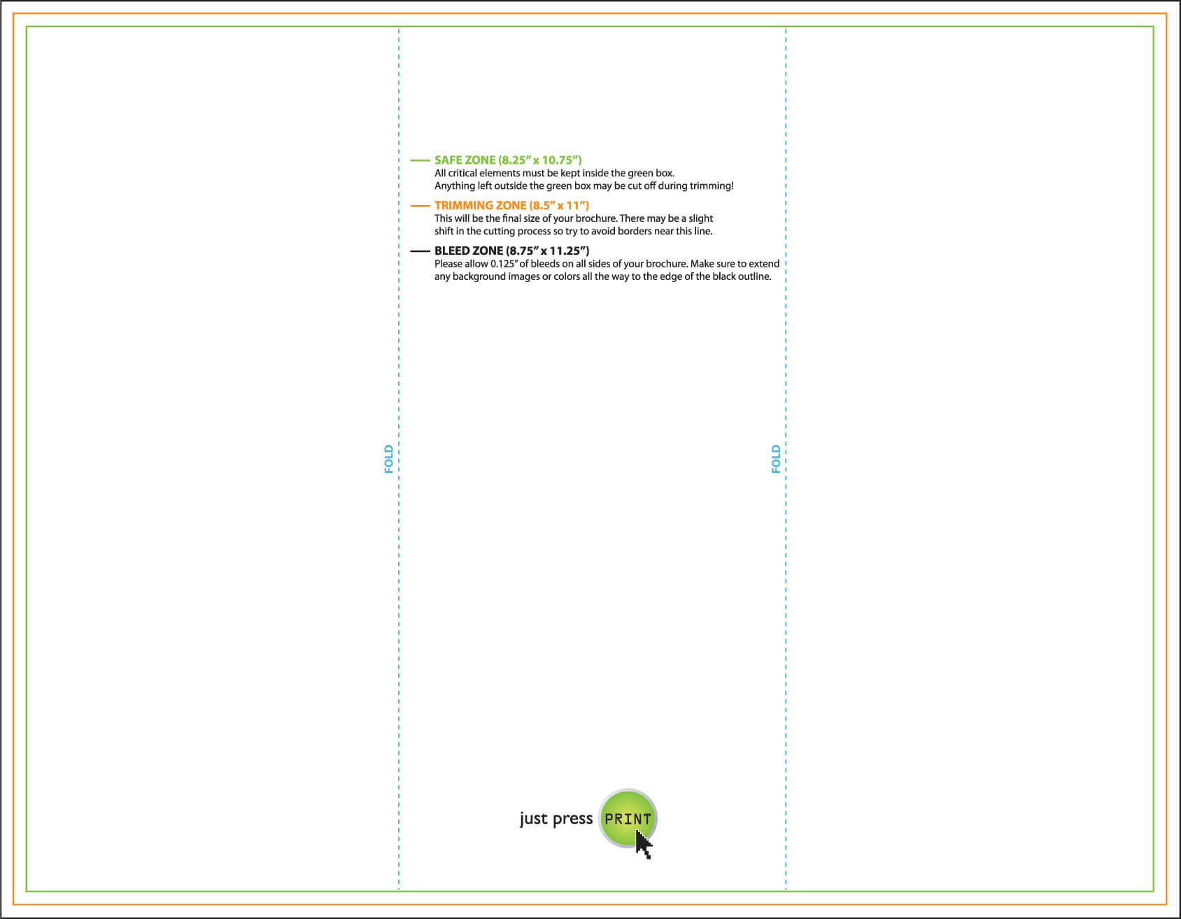 Brochure Printing: Print Brochures & Impress Clients: Just within 8.5 X11 Brochure Template