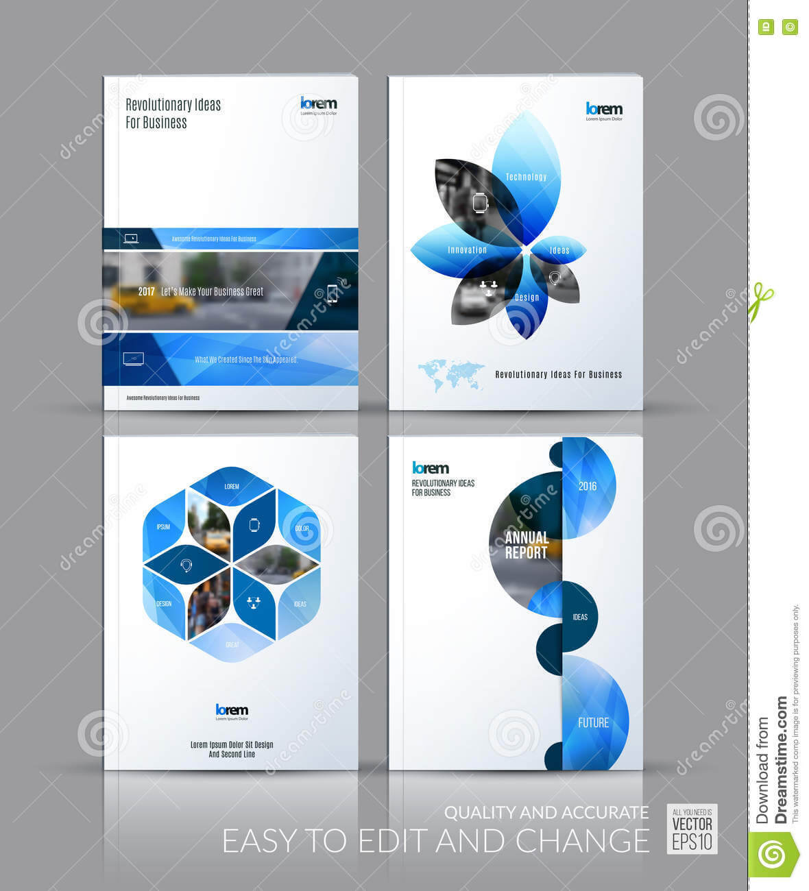 Brochure Template Layout Collection, Cover Design Annual Intended For Half Page Brochure Template