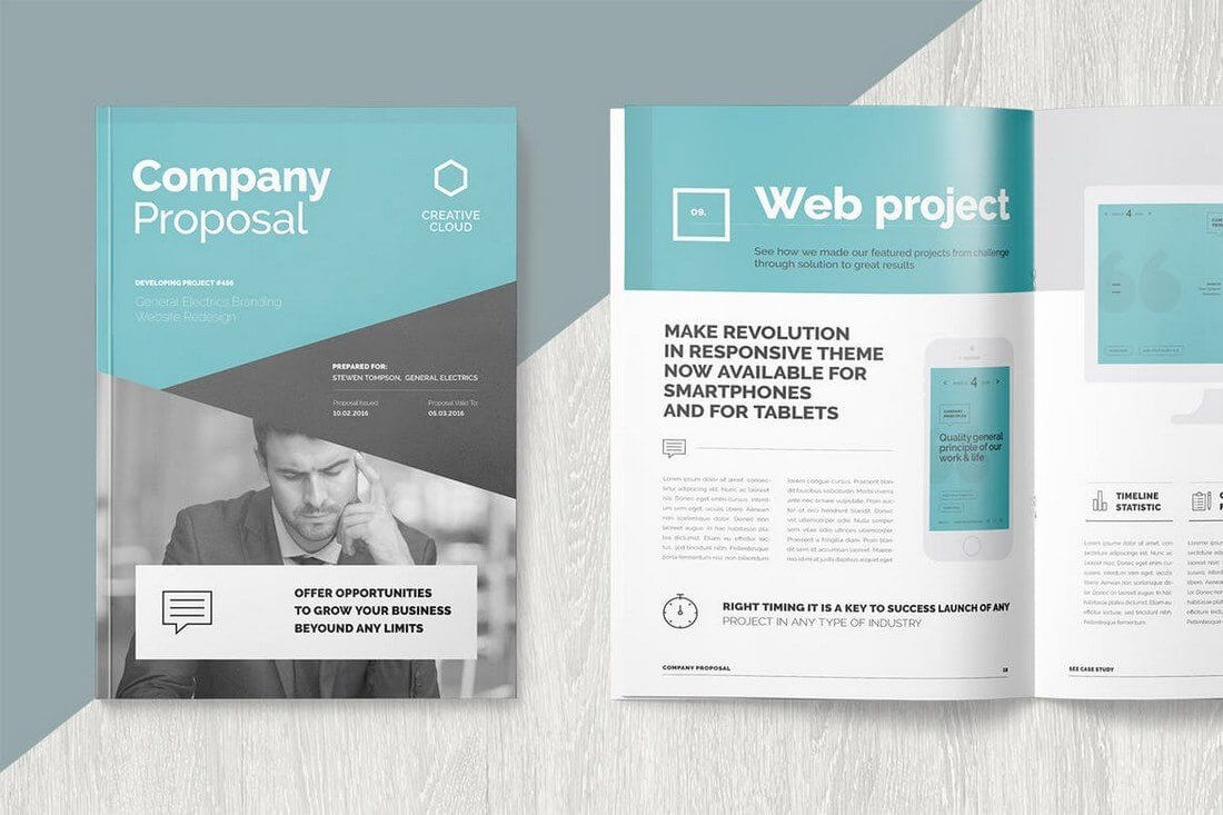 Brochure Templates   Design Shack throughout One Page Brochure Template