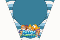 Bubble Guppies Free Party Printables. | First Birthday Theme within Bubble Guppies Birthday Banner Template