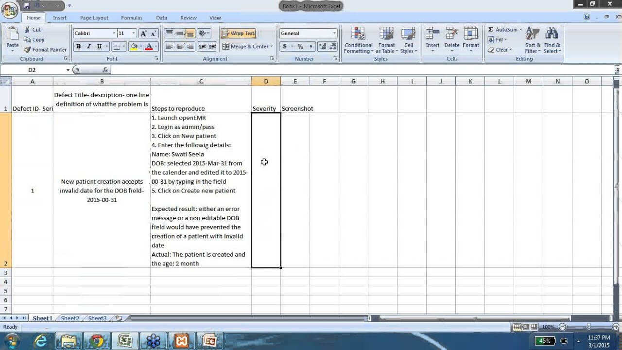 Bug Report - How To Write A Good Defect Report With Sample Bug Report with Software Problem Report Template