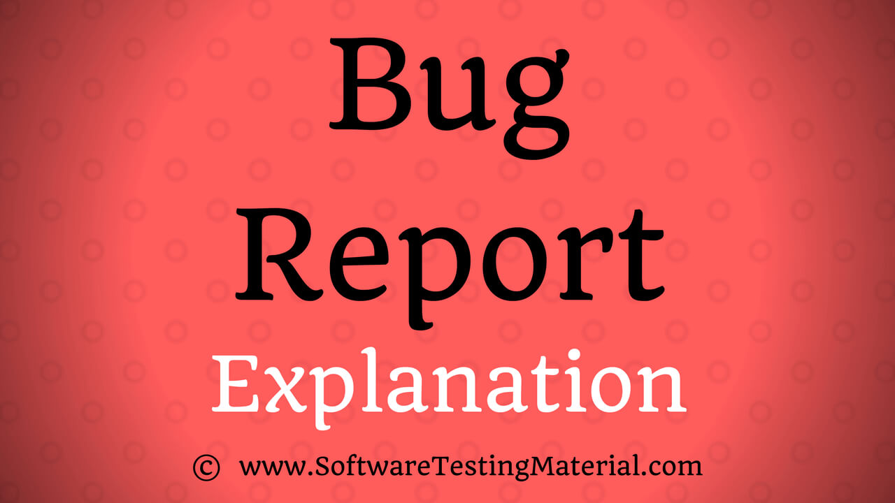 Bug Report Template With Detailed Explanation | Software within Bug Report Template Xls