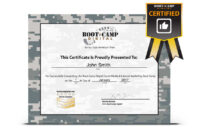 Bunch Ideas For Boot Camp Certificate Template Of Job with Boot Camp Certificate Template