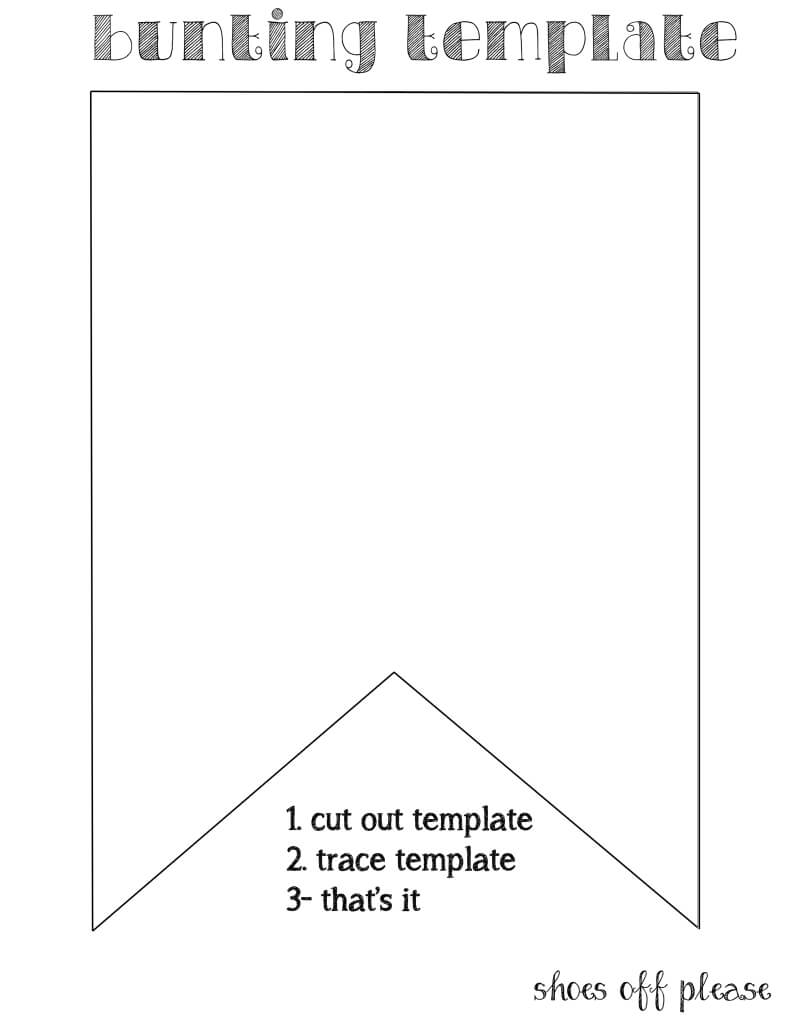 Bunting Template For Banner | Bunting Template, Pennant Intended For Diy Birthday Banner Template