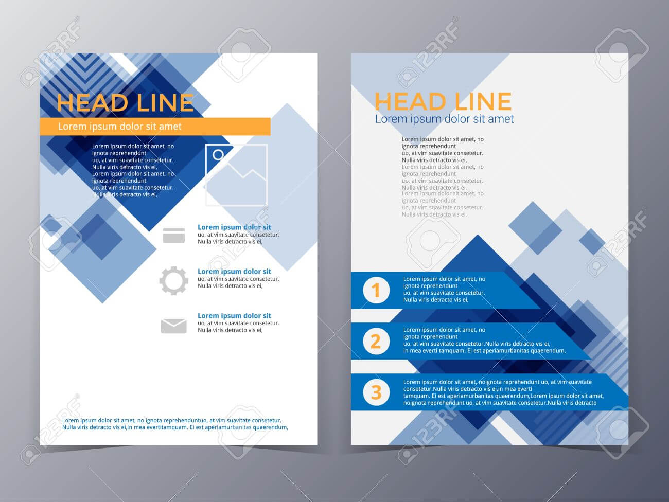 Business And Technology Brochure Design Template In A4 Size .. with Technical Brochure Template