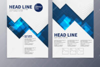 Business And Technology Brochure Design Template Vector Tri throughout Technical Brochure Template