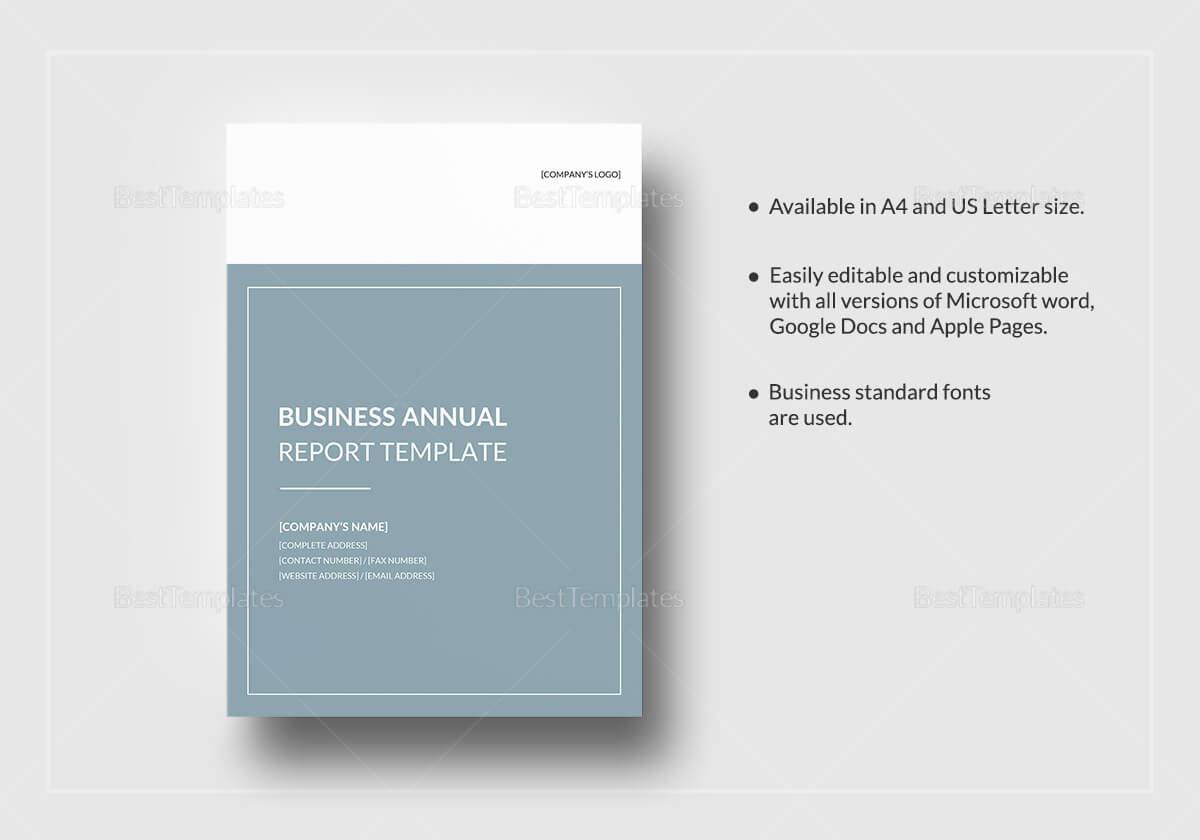 Business Annual Report Template pertaining to Word Annual Report Template