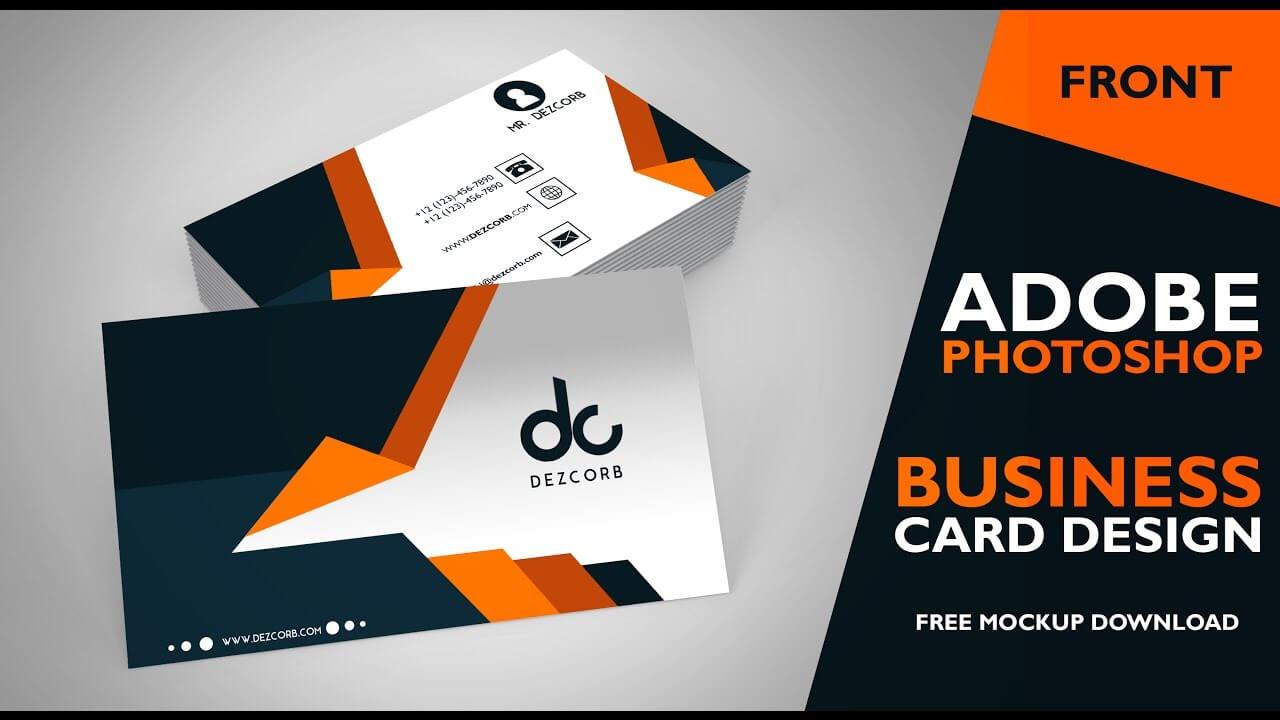 Business Card Design In Photoshop Cs6 | Front | Photoshop Tutorial Regarding Business Card Template Photoshop Cs6
