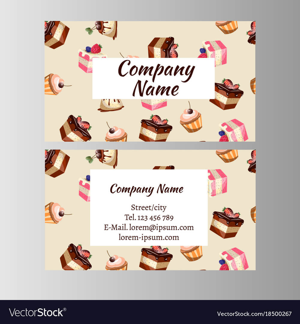 Business Card Design Template With Tasty Cakes Throughout Inside Cake Business Cards Templates Free