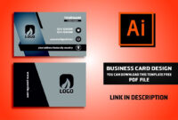 Business Card Design Vector File Free Download | Illustrator Cc Tutorial  2017 pertaining to Visiting Card Illustrator Templates Download