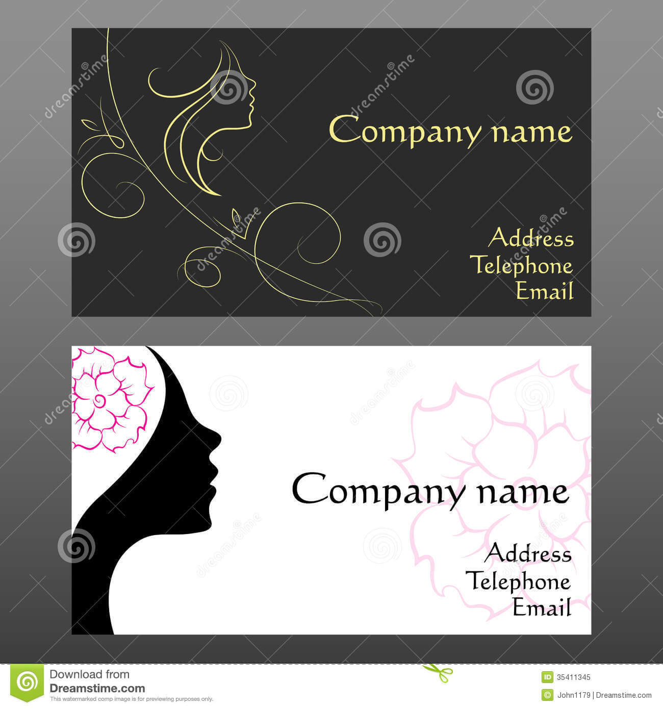 Business Card For Hairdressers Stock Vector - Illustration regarding Hairdresser Business Card Templates Free