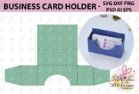 Business Card Holder Template Stand Paper Organiser Box within Card Stand Template