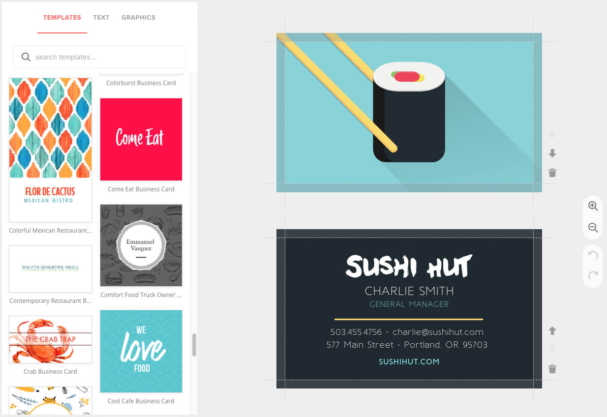 Business Card Maker, Custom & Pro Quality - Musthavemenus Within Business Card Maker Template