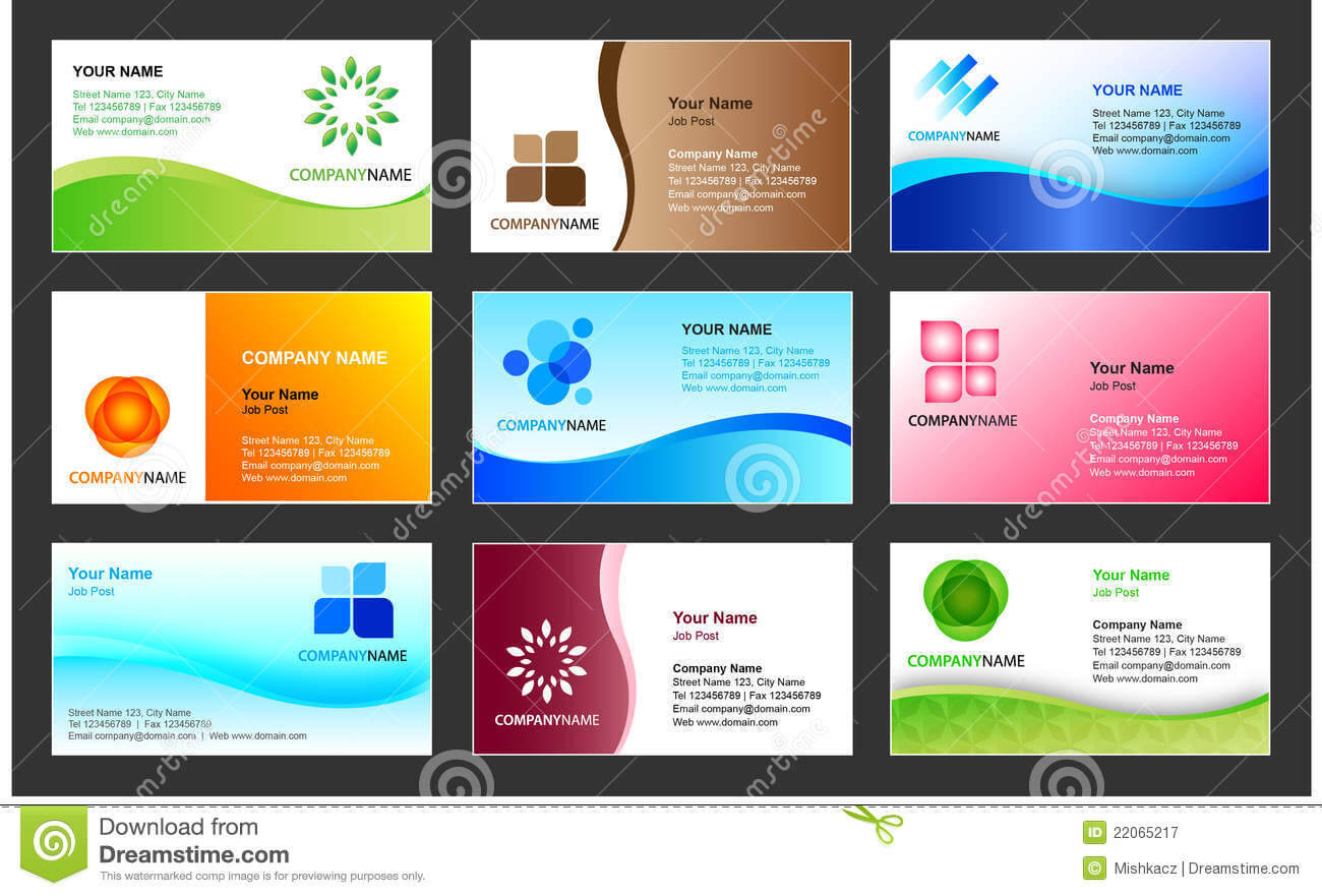 Business Card Template Design Stock Vector - Illustration Of For Calling Card Free Template