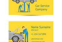Business Card Template For Auto Service inside Automotive Business Card Templates