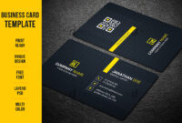 Business Card Template – Vsual with Buisness Card Template