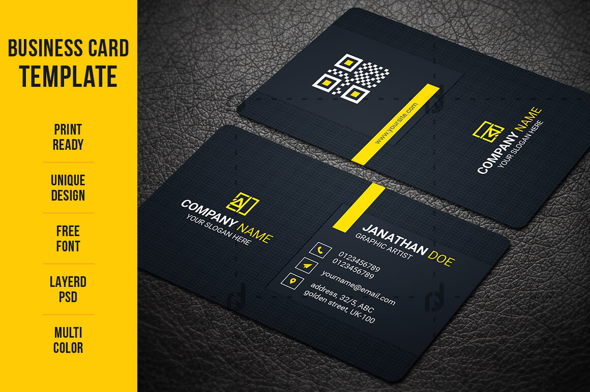 Business Card Template - Vsual with Buisness Card Template