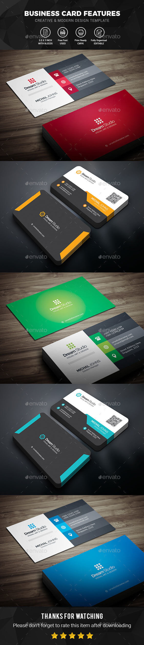 Business Card Templates & Designs From Graphicriver Intended For Business Card Maker Template