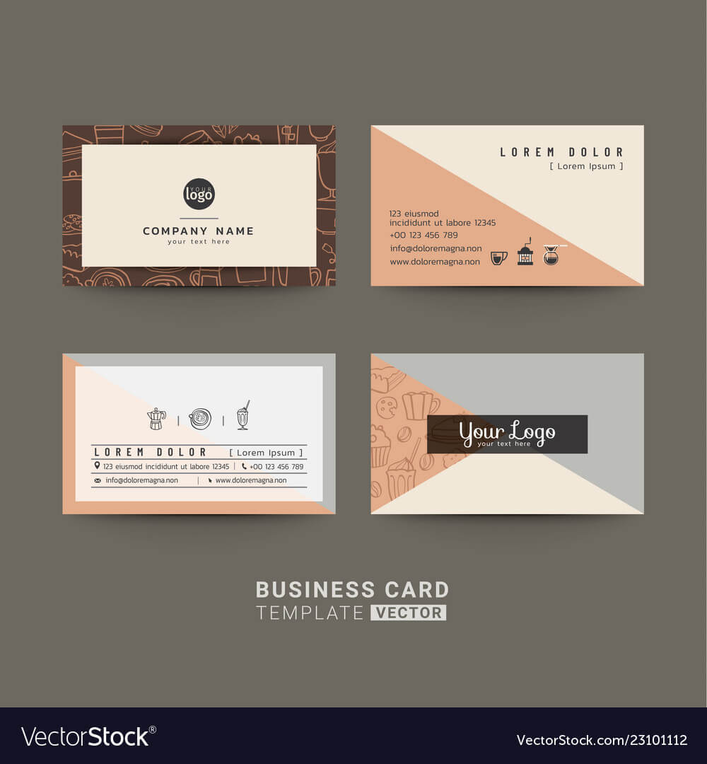 Business Cards For Coffee Shop Or Company regarding Coffee Business Card Template Free