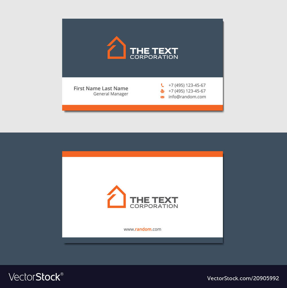 Business Cards Template For Real Estate Agency Inside Real Estate Agent Business Card Template