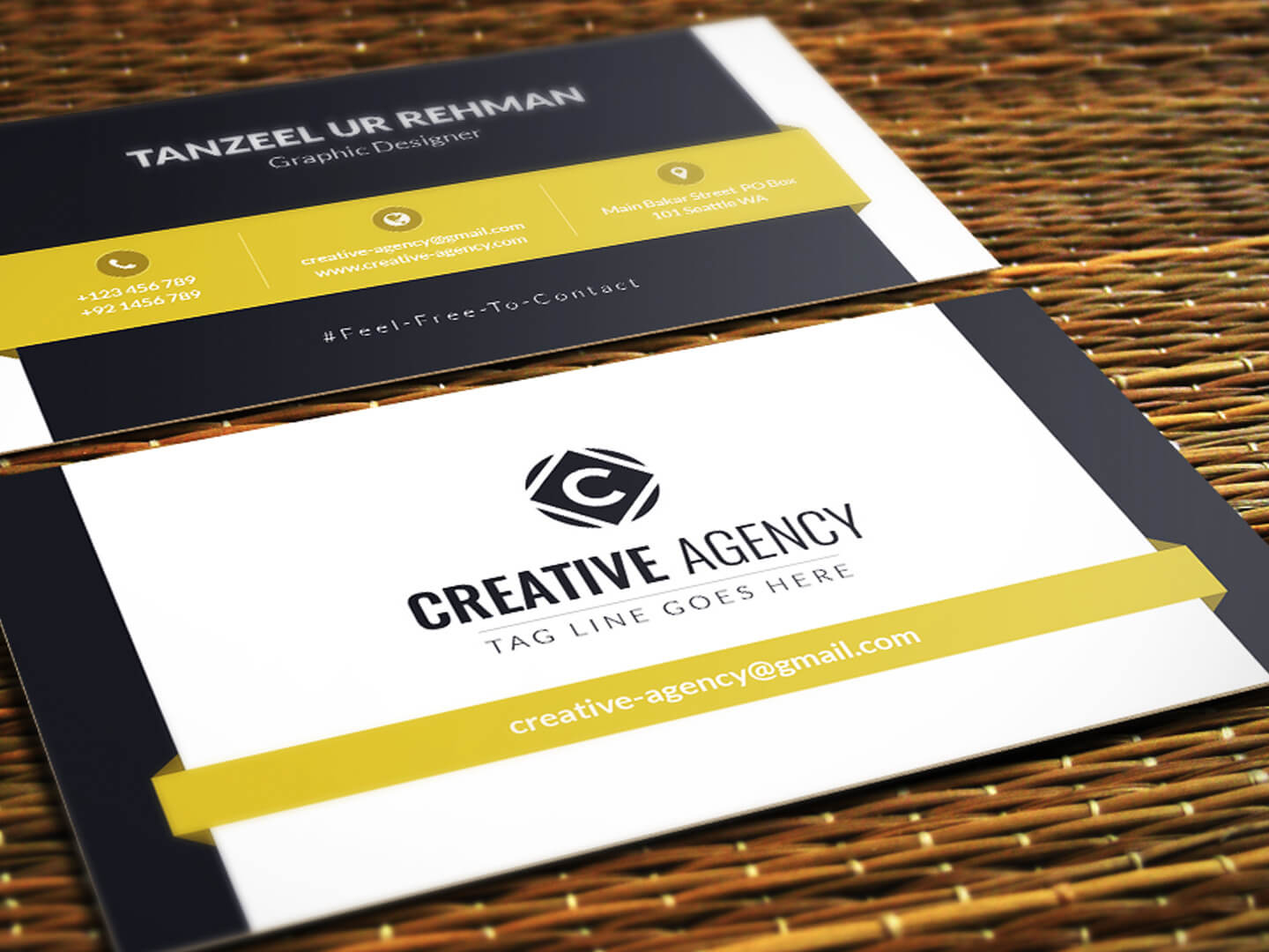 Business Cards Template - Free Downloadtanzeel Ur Rehman inside Templates For Visiting Cards Free Downloads