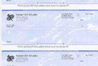 Business Check For Art Studio Printedezcheckprinting With Print Check Template Word