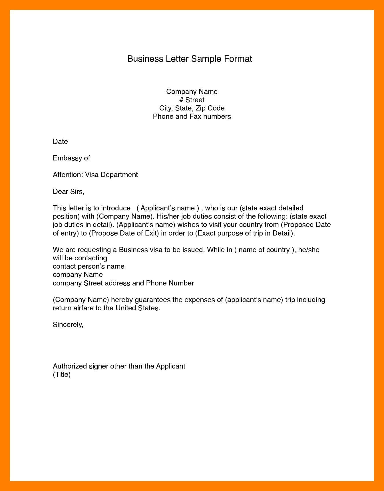Business Letter Format Word (14)   Bank Statement for Modified Block Letter Template Word