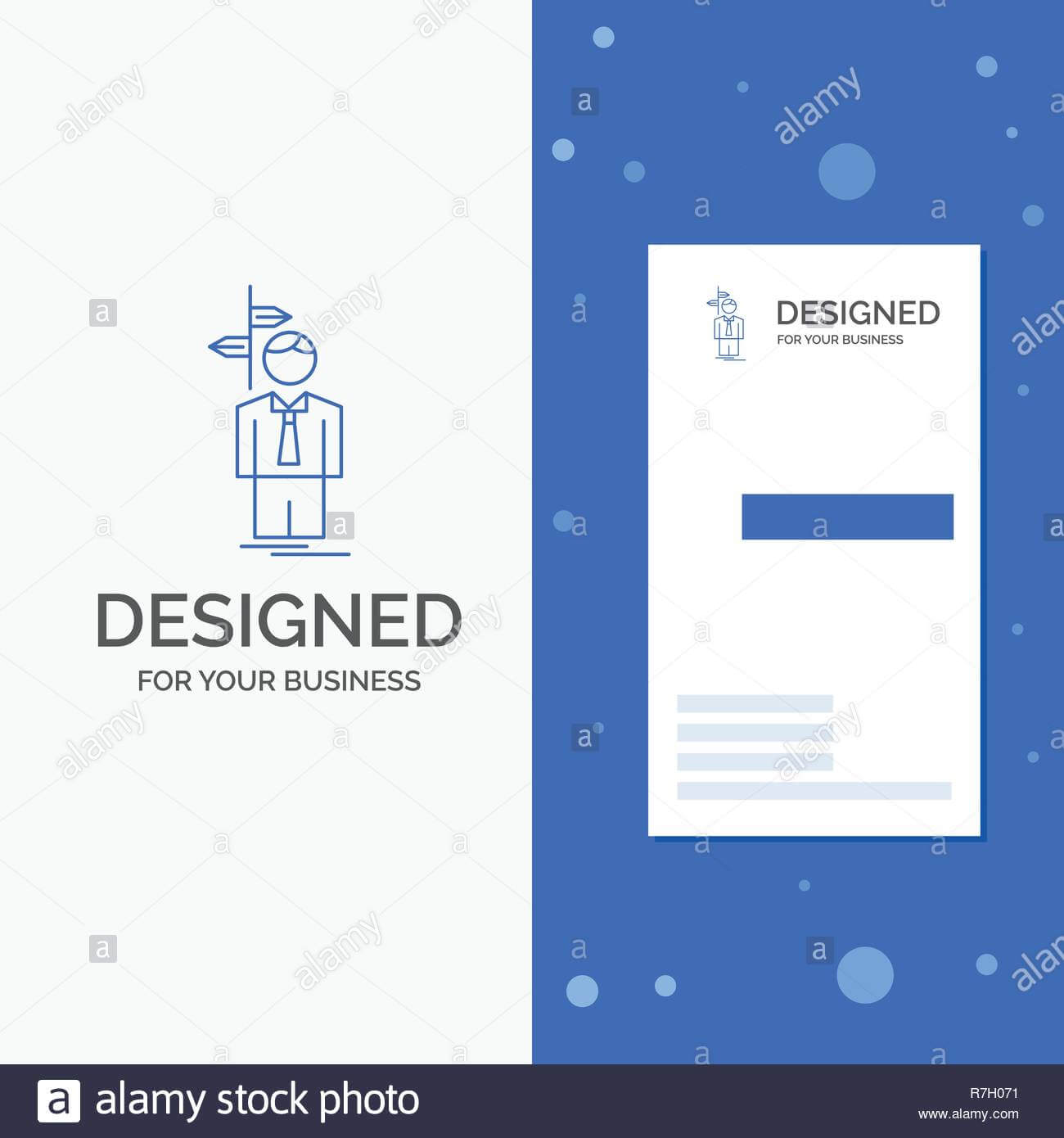Business Logo For Arrow, Choice, Choose, Decision, Direction With Decision Card Template