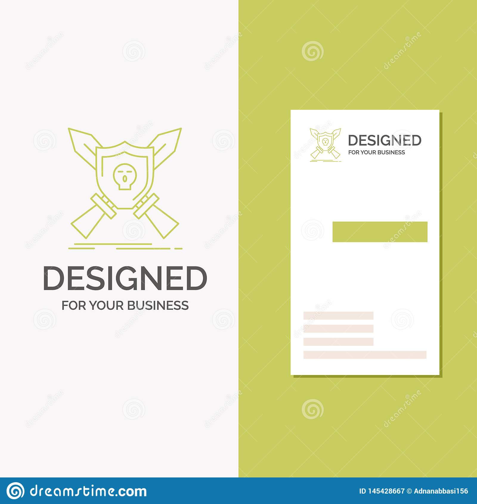 Business Logo For Badge, Emblem, Game, Shield, Swords intended for Shield Id Card Template